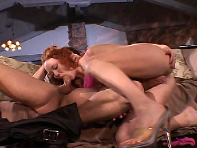 Redhead Pornstar Swallowing a 10-Pounder